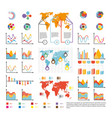 infographics and analytics diagram and charts vector image vector image