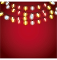 installation of Christmas lights decoration vector image vector image