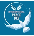 International Peace Day Emblem vector image vector image