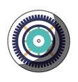 Isolated gear design vector image vector image