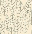 Leaf pattern Seamless doodle flowers vector image vector image