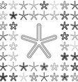 Line star icon design set vector image vector image