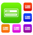 login and password set collection vector image vector image