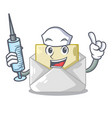 nurse open envelope greeting posters on character vector image