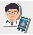 nurse stethoscope medical service vector image