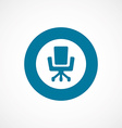 Office chair bold blue border circle icon vector image vector image