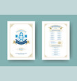 oktoberfest menu vintage typography template with vector image