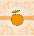orange fruits nutrition background pattern drawing vector image
