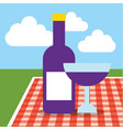 picnic food image vector image