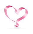 Pink ribbon heart symbol vector | Price: 1 Credit (USD $1)