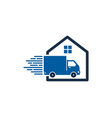 property delivery logo icon design vector image