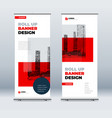 red business roll up banner abstract roll up