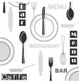 Restaurant seamless pattern vector image vector image