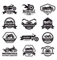 retro motorcycle emblems biker club motorcycle vector image