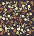 seamless pattern with stylish plants vector image vector image