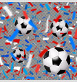seamless sport pattern with balls vector image