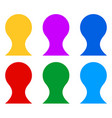 simple figure character icons in classic board vector image vector image