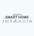 smart home banner web icon for futuristic vector image vector image