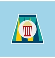 soda and pop corn isolated icon design vector image