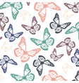 soft colored flying butterflies for spring season vector image vector image