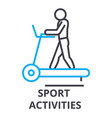 sport activities thin line icon sign symbol vector image vector image