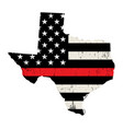 state texas firefighter support flag vector image