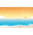 Sunset Beach Background vector image vector image