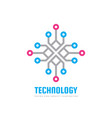 technology - logo template concept vector image