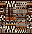 tribal african style fabric patchwork background vector image vector image