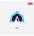 two color tent icon from army concept isolated vector image