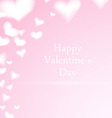 Valentine card with hearts vector image