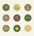 Vegetarian labels vector image