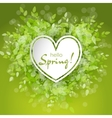 White heart frame with text hello spring vector image vector image