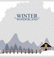 winter wonderland landscape christmas season vector image