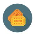 Cinema ticket flat icon vector image