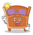 have an idea cute bed character cartoon vector image
