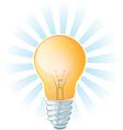 light bulb beams vector image