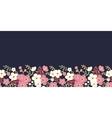 Night garden sakura blossoms horizontal seamless vector image