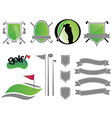 golf logos vector image