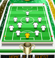 Soccer Field with Soccer Ball and Scoreboard vector image