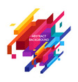 abstract colorful geometric isometric background vector image vector image