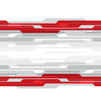 abstract red grey circuit on white with blank vector image vector image
