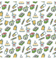 asian food seamless pattern - chinese fast food vector image vector image
