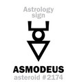astrology asteroid asmodeus vector image vector image