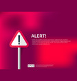 attention warning alert sign banner with vector image vector image