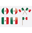 Badges with flag of mexico vector | Price: 1 Credit (USD $1)