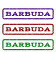 barbuda watermark stamp vector image vector image