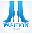 Beauty and fashion icon with shoe stock vector image