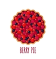 Berry pie icon on white background vector image vector image