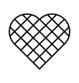 black checkered heart square grid in diagonal vector image vector image